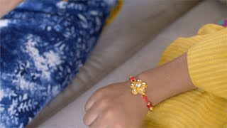 Raksha Bandhan - Sister tying beautiful rakhi on her brothers wrist