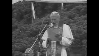 Jan Paweł II 1987r  Westerplatte  cz1 spotkanie z młodzieżą   homilia