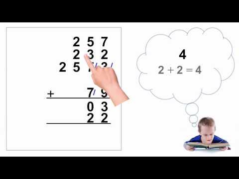 Trachtenberg Speed Math Addition - YouTube