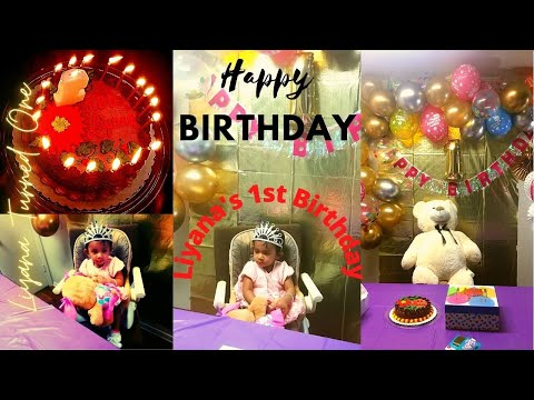 First Birthday Party for Cute Baby Liyana | Birthday Party Idea During Pandemic.
