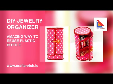 Easy #BestOutofWaste  Craft - Amazing Way to Reuse Plastic Bottle | #DIY Jewelry Organizer