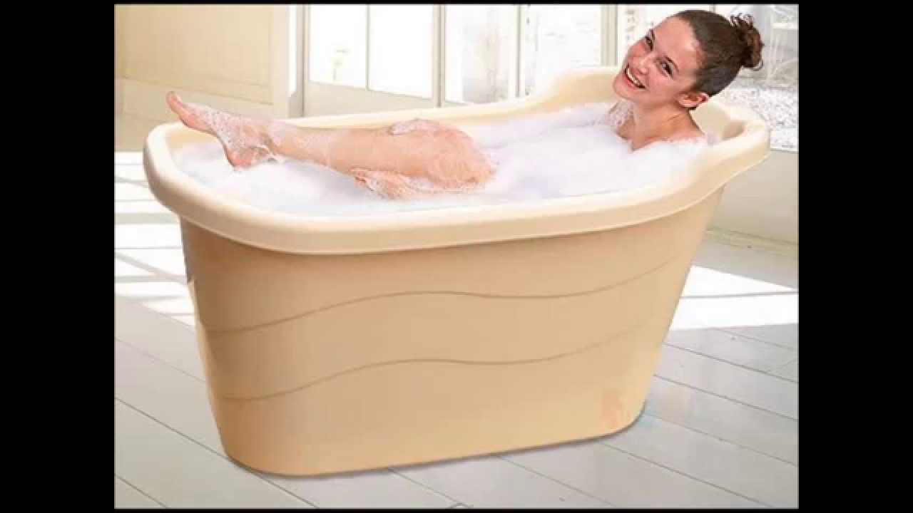 Portable Hot Bathtub for Deep Soak - YouTube