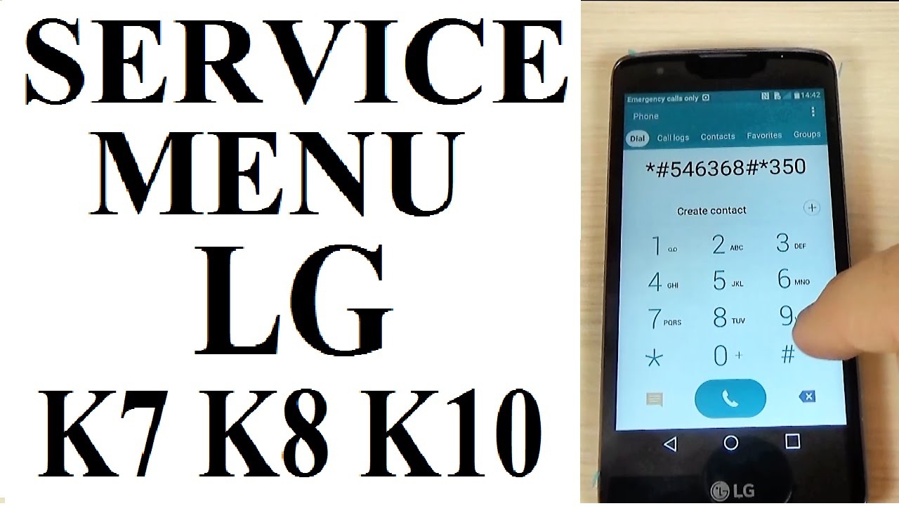 SECRET CODE for LG K7, K8, K10 to enter in Service Menu