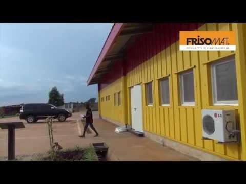 A 1.300 m² water bottling factory Angola | Frisomat Industrial Buildings