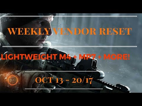 The Division - Weekly Vendor Reset Oct 13 - 20/17