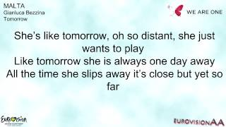 Eurovision 2013 | Malta: Gianluca Bezzina - Tomorrow | Lyrics