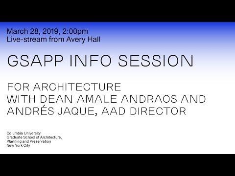 GSAPP Info Session: Architecture
