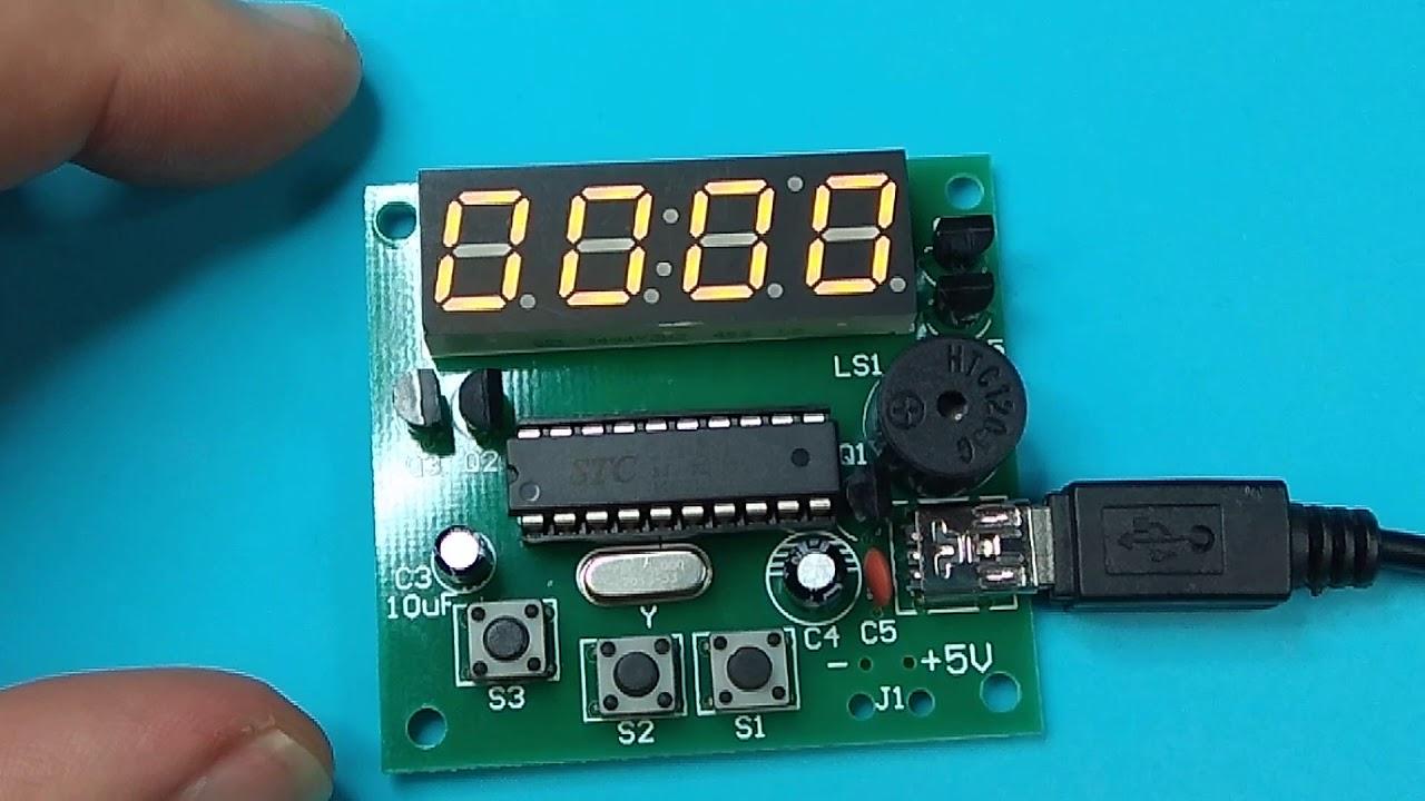 ICStation - Analog Computer Program Control Bell DIY Kit 48Bit Adjustable  Electronic Alarm Clock