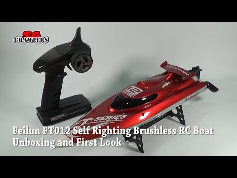 FT012 Upgraded FT009 2.4G Brushless RC Racing Boat self righting unboxing and first look