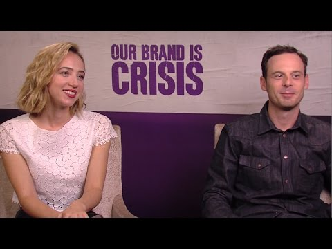 Zoe Kazan & Scoot McNairy - Our Brand Is Crisis Interview HD