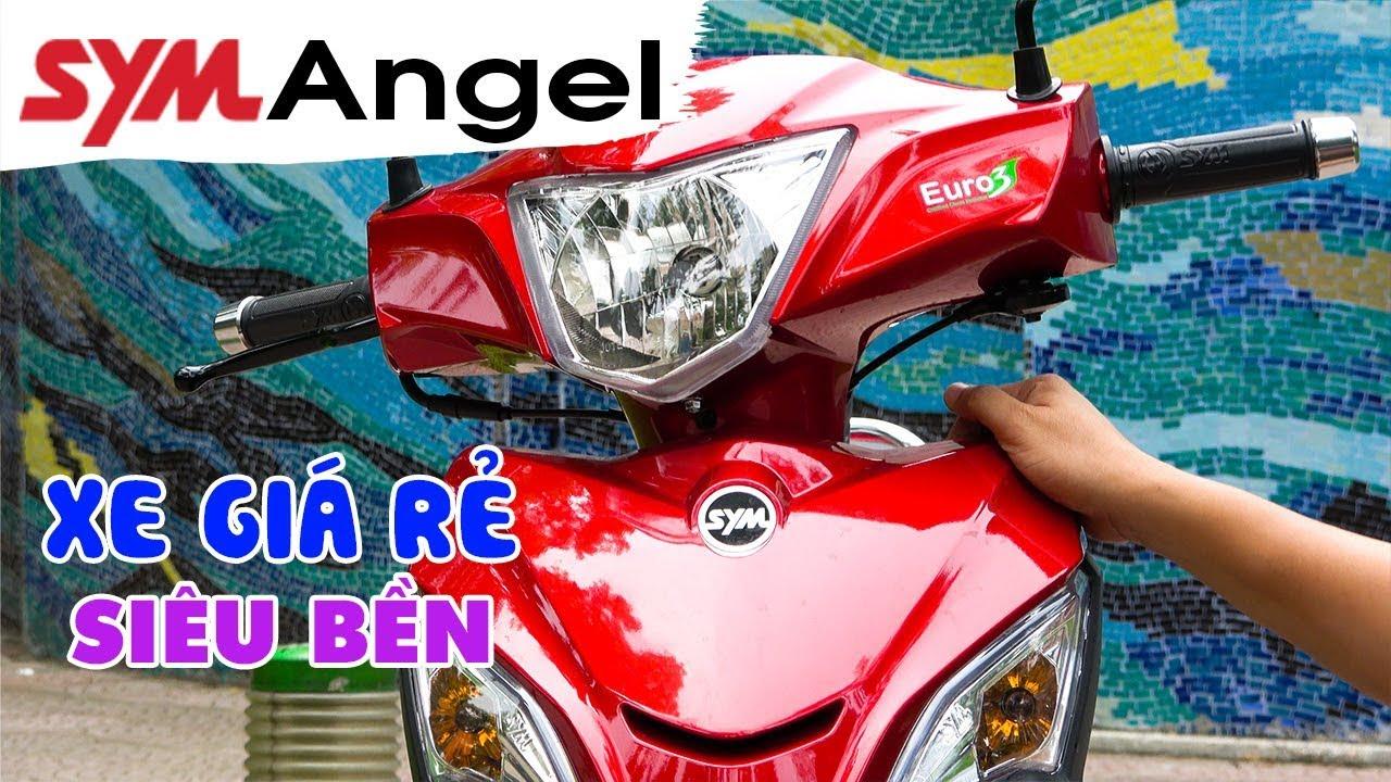 """SYM Angel 110cc ▶ Đánh giá xe máy giá rẻ """"trâu cày"""" siêu bền dưới 16 triệu dành cho sinh viên"""