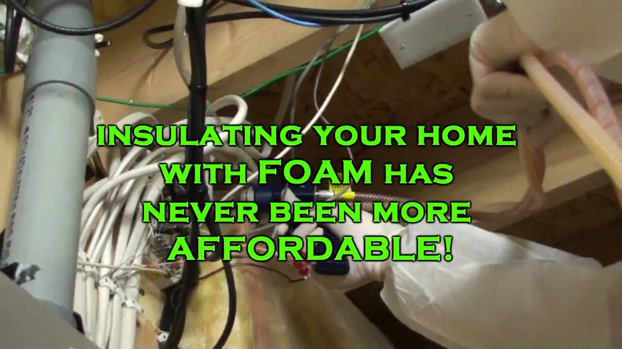 Do it yourself spray foam insulation kit youtube solutioingenieria