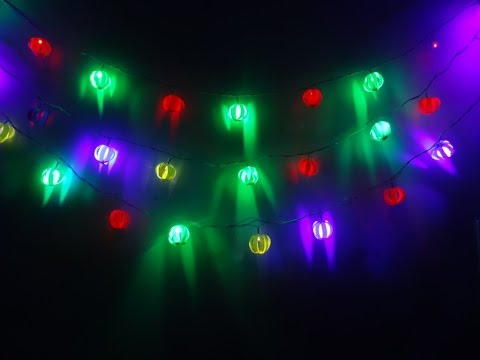 Paper Crafts(Diwali Decoration ideas): Garland of Lights: Christmas Decor