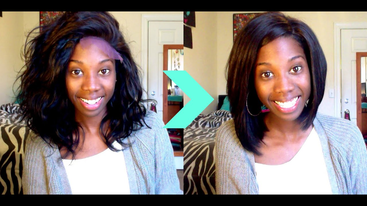Cut And Style : Watch Me Cut and Style Wig Into Bob - OMG Hair - YouTube
