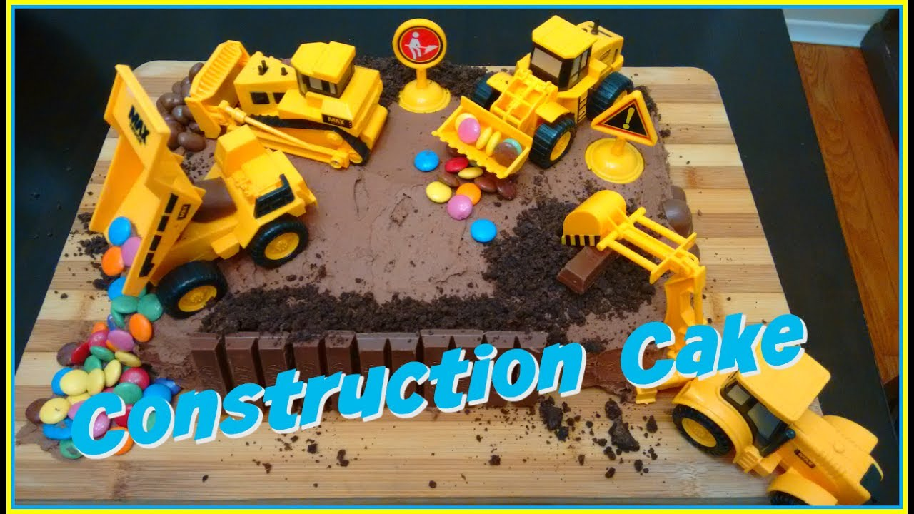 Easy Construction Site Birthday Cake DIY Wesleys 5th Birthday