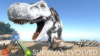 ARK: Survival Evolved - NEW DOEDICURUS & TREX KIBBLE TAMING ALBINO !!! - [Ep 23] (Server Gameplay)