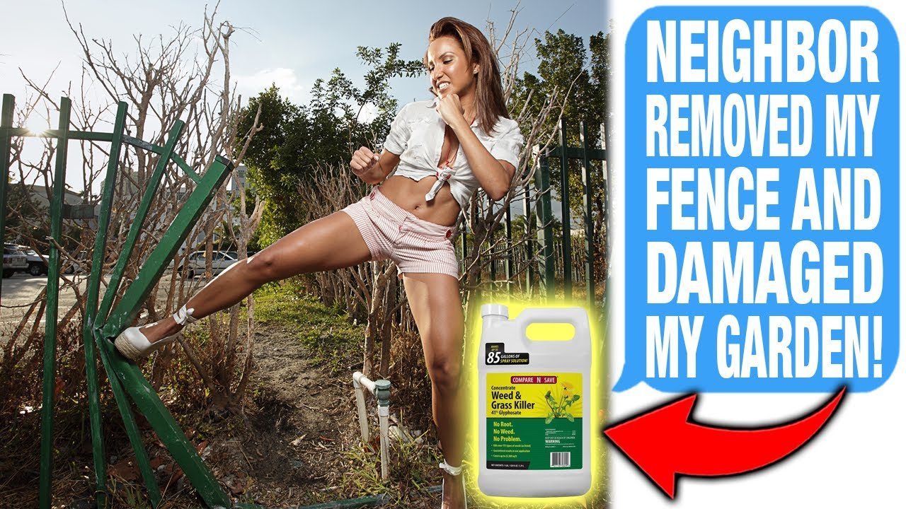 Neighbor REMOVED My Fence Without Permission & Used Grass Killer To Damage My Property! 🤔