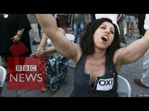 Greek voters' 'no' to bailout offer - BBC News