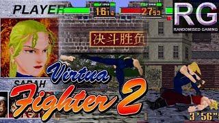 Virtua Fighter 2 - Sega Saturn - Playthrough as Sarah Trueplay 1CC & secret ending [1080p 60fps]