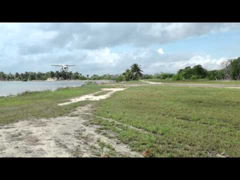 Incoming Tropic Air Plane-Blackbird Airstrip