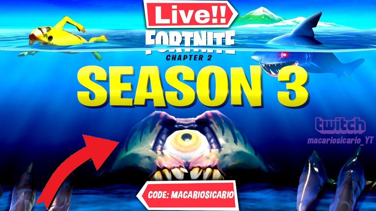 JUGANDO CUSTOMS CON SUBCRIPTORES FORTNITE en directo Temporada 3 #fortniteevento #actualización
