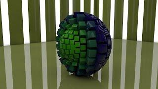 Создания красивой Кубической сферы CINEMA 4D Урок