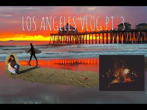 LOS ANGELES VLOG - PT. 3!! - HUNTINGTON BEACH!
