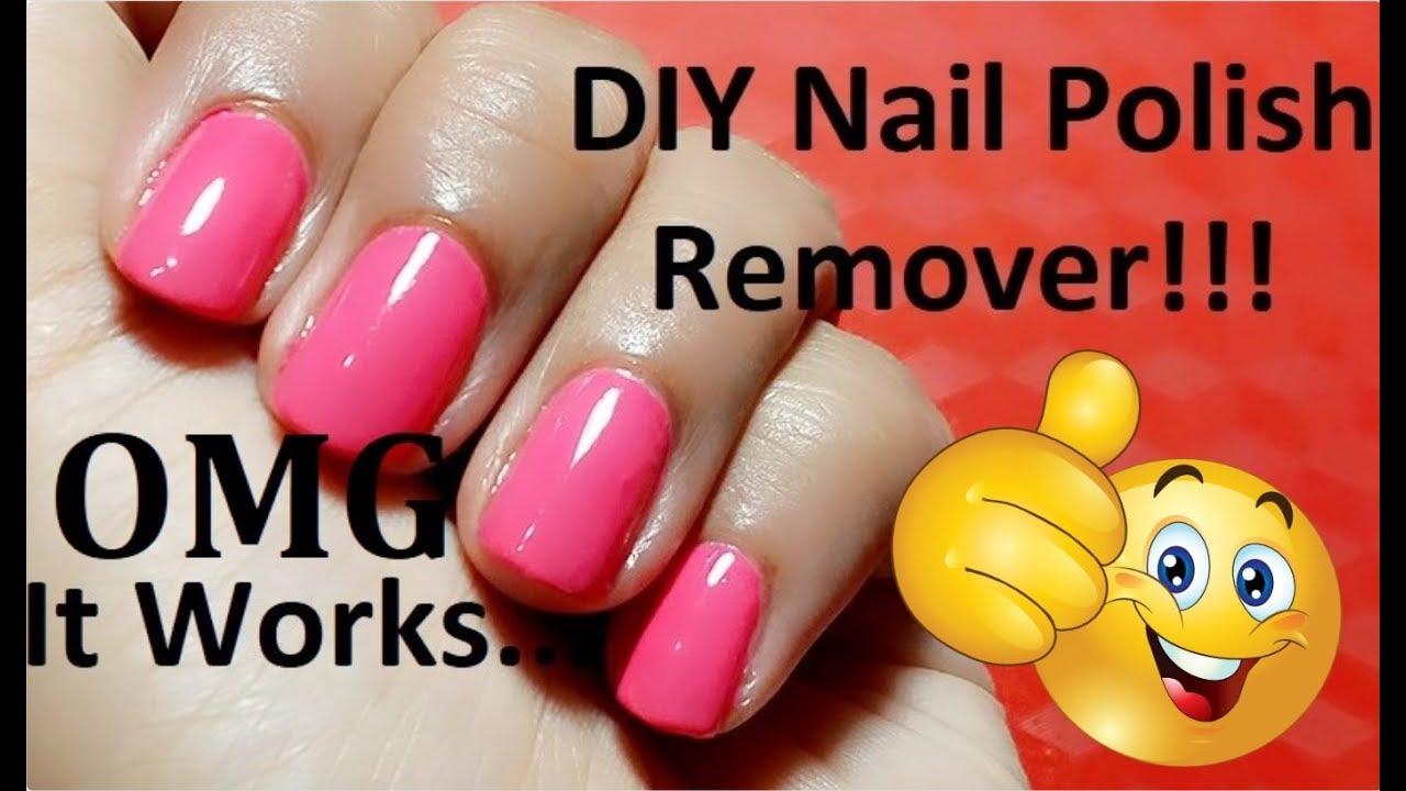 DIY Nail Polish Remover | How To Make Nail Polish Remover At Home ...