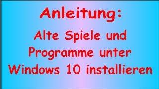 Anleitung: Alte Spiele unter  Windows 10 installieren (am Beispiel ZEUS- Herrscher des Olymp)