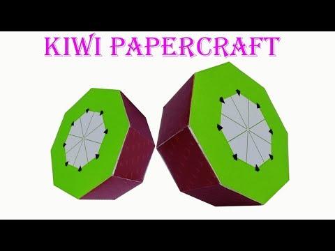 How To Make 3D Paper Fruits : Kiwi | papercraft 99