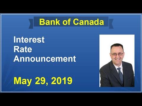 BANK OF CANADA / May 29, 2019 / BOC Interest Rate Announcement Explained / Why Was Rate Maintained