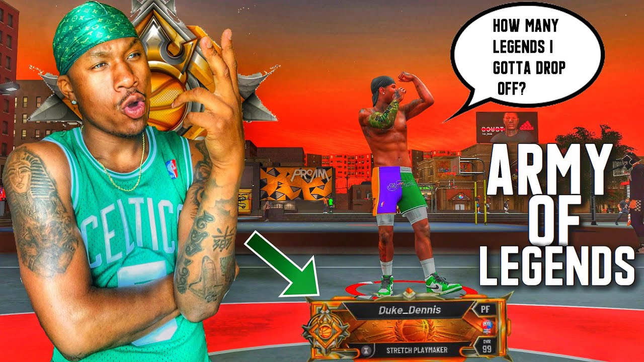 ARMY Of LEGENDS Try To EXPOSE My LEGEND STRETCH PLAYMAKER At The 1v1 EVENT On NBA 2K20! BEST BUILD!