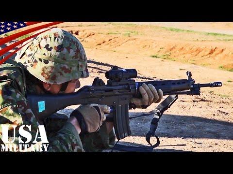 陸上自衛隊アメリカ演習 81mm迫撃砲・89式小銃 長距離実弾射撃 - Japanese Soldiers US Exercises (81mm Mortar, Type 89 Rifle)