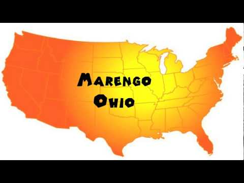 Marengo Ohio Map.How To Say Or Pronounce Usa Cities Marengo Ohio Youtube