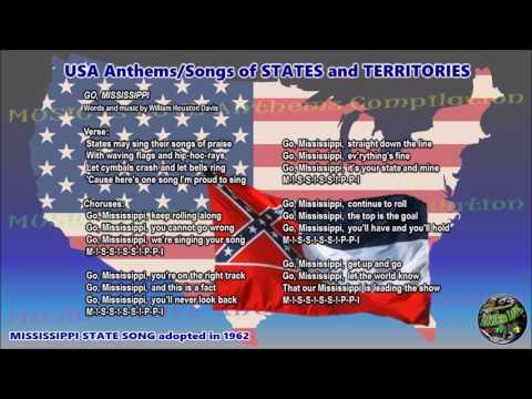 Mississippi State Song GO MISSISSIPPI instrumental with lyrics