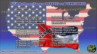 Mississippi State Song GO MISSISSIPPI instrumental with lyrics