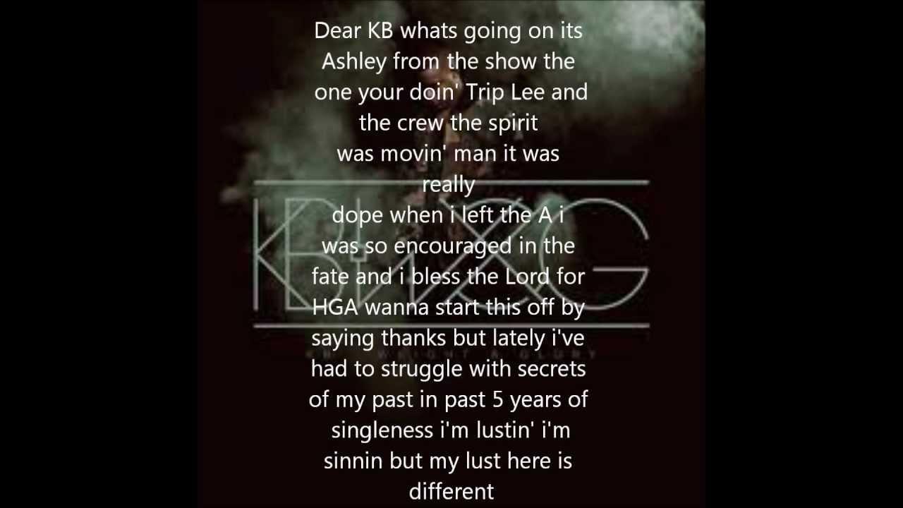 KB Open Letter (lyrics on screen)