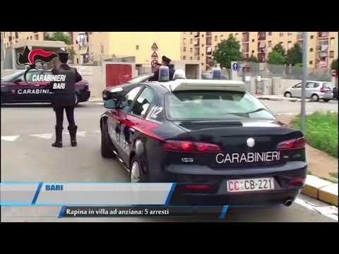 BARI   Rapina in villa ad anziana: 5 arresti   TG TELEREGIONE 15 11 2017