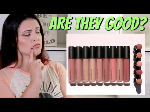 BareMinerals GEN NUDE Lip Collection * Lip Swatches & Review * | Jen Luvs Reviews
