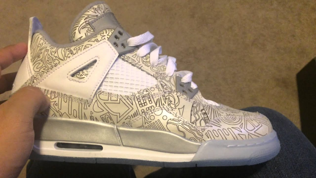 online store 17266 3d028 HD Air Jordan 4 Retro Laser BG (GS)