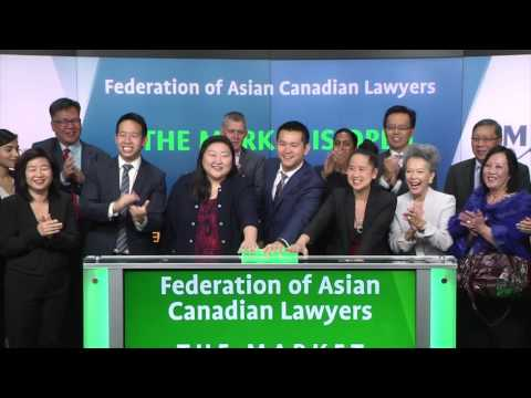 Federation of Asian Canadian Lawyers opens Toronto Stock Exchange, October 28, 2016