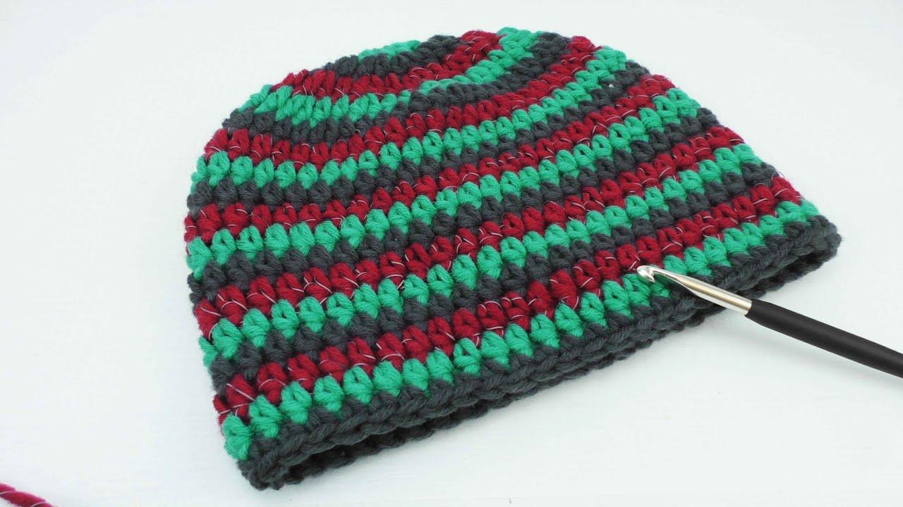 Mütze Häkeln 3 Farbig Myboshi Style Reflektierende Wolle