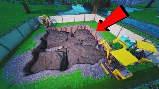 *NEW* Dig Site Going to LOOT LAKE Soon! (FORTNITE BATTLE ROYALE)