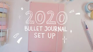 my 2020 bullet journal set up