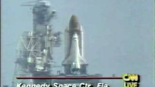CNN Coverage of The STS-43 Launch