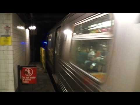 IND Sixth Avenue Line: Brooklyn-bound D Express Train@7th Avenue-53rd Street