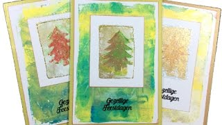 Trompke - Making a Christmas Card (no.7) DIY (gelli plate)