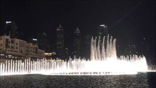 Dubai Fountain Water Show at Dubai Mall (Arabic Song)