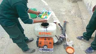 Sử dụng máy phun thuốc stihl SR420 để phun cho cây trồng, bán máy phun thuốc stihl sr420