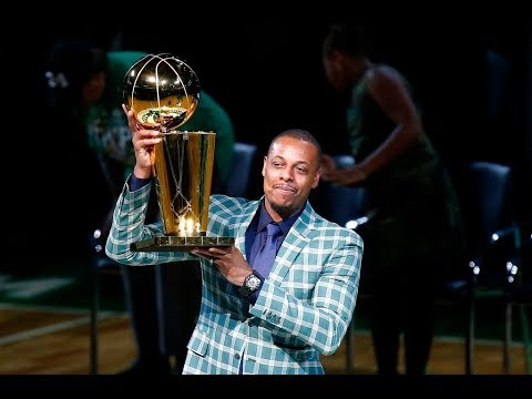 official photos 65be7 26618 Paul Pierce appreciative of Kobe Bryant, Magic Johnson messages during his  Boston Celtics jersey ...